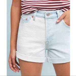 {Levi's} 501 High-Rise Two-Toned Denim Shorts